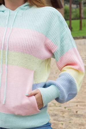 Blusa Capuz Candy Colors - REF: 1112