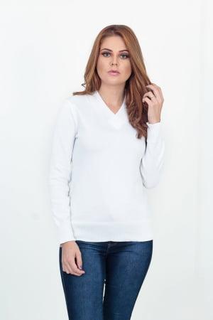 Blusa Decote V Lisa Elastano - REF. 103