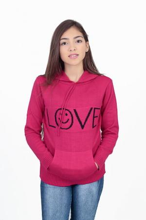 Blusa Infantil Capuz Love - REF. 573