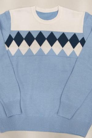 Blusa Masculina Decote Redondo Jacquard - REF. 626