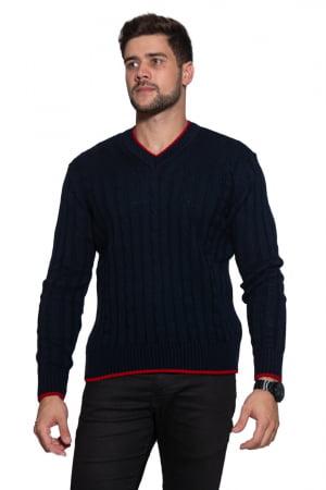Blusa Masculina Decote V Trança - REF. 981