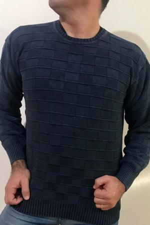 Blusa Masculina Estonada Quadradinho. Ref. 6107