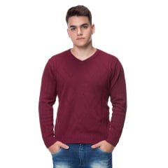 Blusa Masculina V Losango Estonada - REF. 386