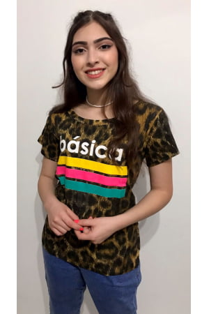 Camiseta Animal Print Básica - REF: 1321