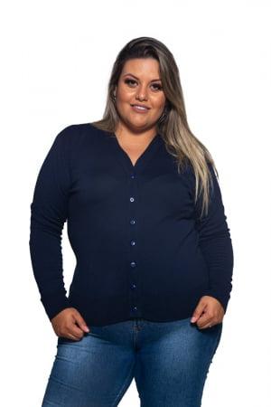 Casaco Elastano Básico Plus Size - REF. 608PS