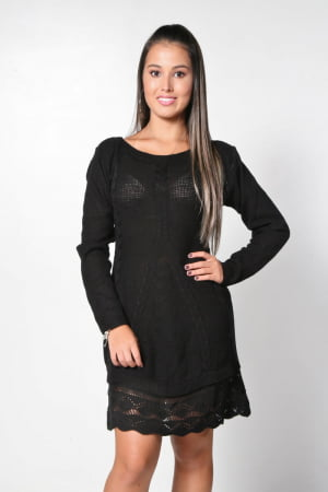 Vestido Rendado - REF. 550