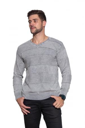 Blusa Masculina V Algodão Riscos - REF. 440