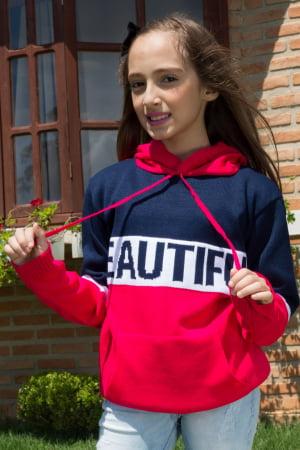 Blusa Feminina Infantil Beautiful-  REF: 1104